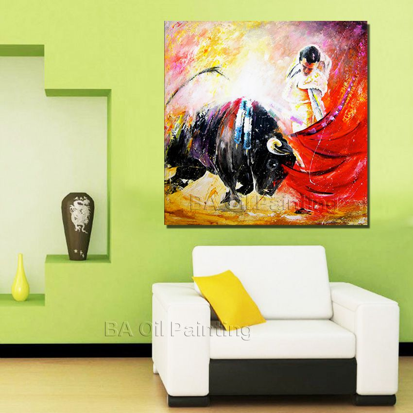 Buy big size modern hand painted abstract for Abstract salon of the arts