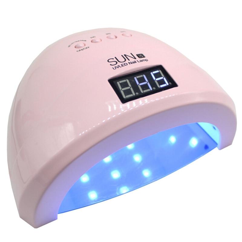 Sun1S SUN1 Nail Dryer 24W/48W LED/UV Lamp Nail Dryer Fingernail Toenail Gel Curing Manicure Machine Nail Art Salon Tool Low Heat
