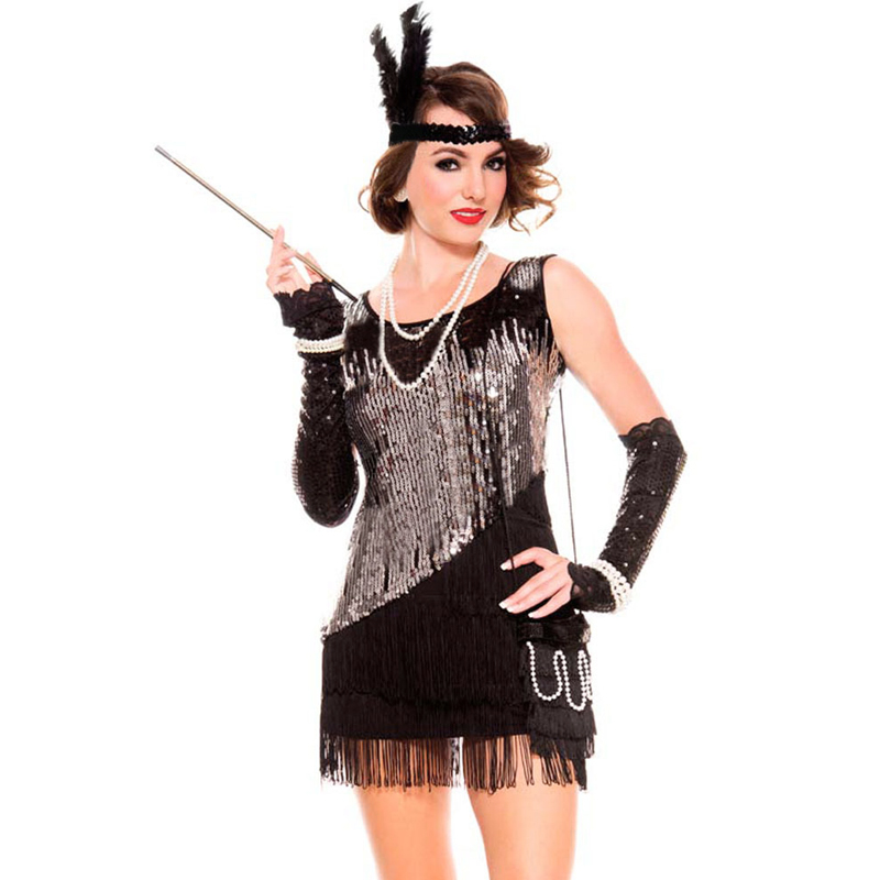 ①hallowmas Cosplay Lady 1920s Adult ᐂ 20s 20s Flapper