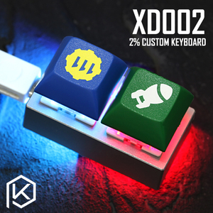 xd002 xiudi 2% Custom Mechanical Keyboard 2 keys Underglow and switch RGB PCB programmed hot-swappable macro key aluminum case(China)