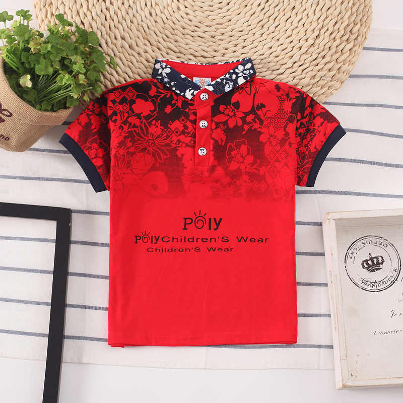 Boys Shirts modis Color Stripes Short Sleeve Summer Top Polo Shirt 3T-8T Kids Clothes Cotton Camiseta Toddler Boy Tees 2019