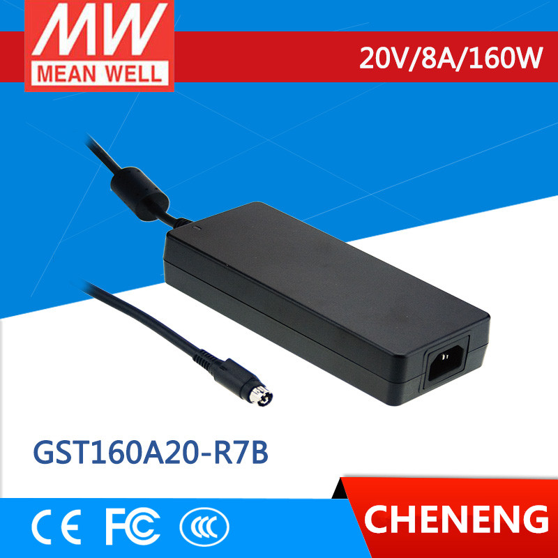 MEAN WELL original GST160A20-R7B 20V 8A meanwell GST160A 20V 160W AC-DC High Reliability Industrial Adaptor 1mean well original gsm160a24 r7b 24v 6 67a meanwell gsm160a 24v 160w ac dc high reliability medical adaptor