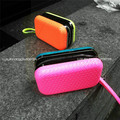 Neon color 2 tone Small Hard Case Evening IT Clutch Handbag Wristlet Bag