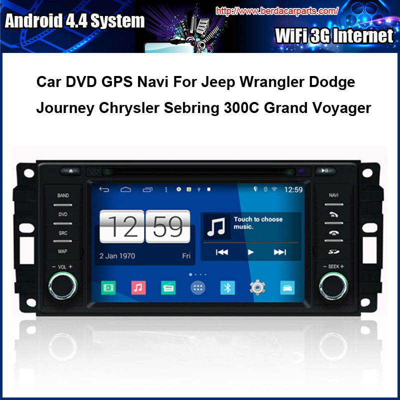 Android Car DVD player for Chrysler Sebring Dodge Jeep GPS Navigation Speed 3G, enjoy the built-in WiFi