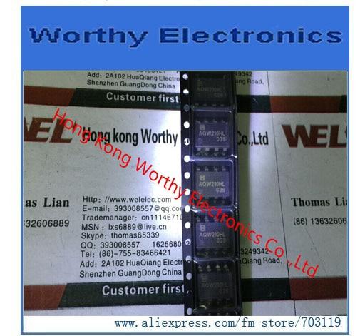 Free shipping 10pcs/lot RELAY OPTO DPST-NO 120MA 350V AQW210HLAZ