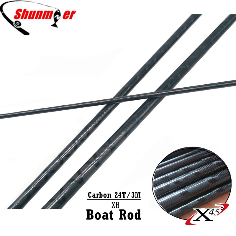 SHUNMIER 2Set 3M 3Sections XH 24T Fast Action Carbon Fishing Rod Blank DIY Boat Rod Pole Repair Olta Carbon Fiber Rod Pesca black new for 8 prestigio multipad wize 3108 3g pmt3108 3g tablet touch screen panel digitizer sensor replacement freeshipping