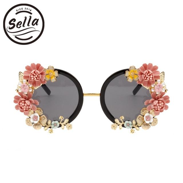 7b9e5489684b9d Sella Personnalité Baroque Style Rétro Femmes lunettes de Soleil De Mode  Dames De Luxe Diamant Papillon
