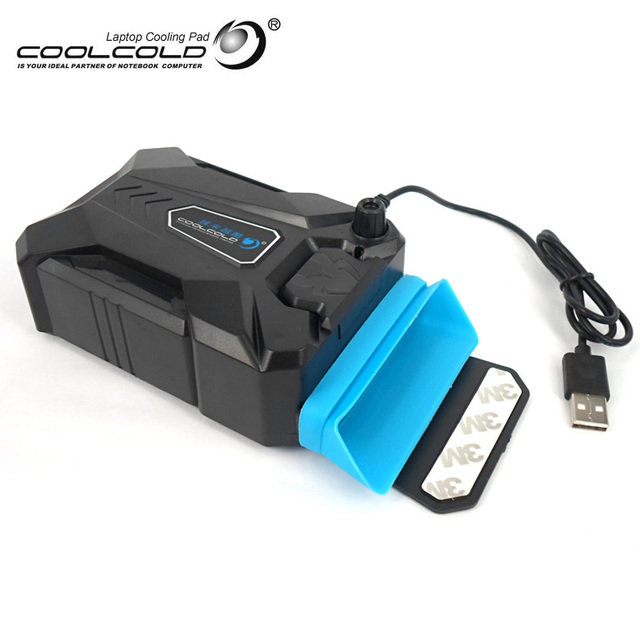 Coolcold Портативный Ноутбук USB Охлаждения Кулер Вентилятор Регулируемая Скорость Льда Тролль 3 Высокая Производительность Ноутбук Вентилятор Cooler Контроллер