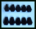 New arrival Natural Stone 10pcs Faceted Obsidian Cabochon Set,12*8*3mm,7.5g natural stone cabochon faceted bead