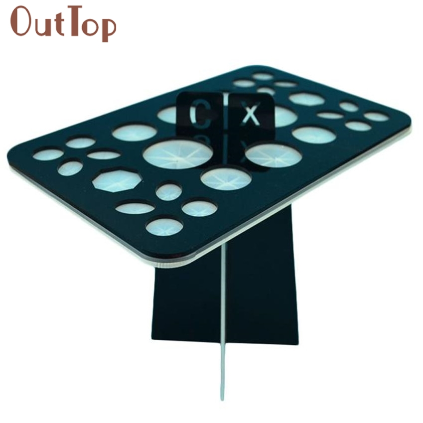 High Quality 1pc Acrylic Makeup brush drying rack dry brush holder New Arrival J170117 new arrival acrylic makeup brush holder organizer cosmetics makeup brushes showing rack air drying display stand storage shelf