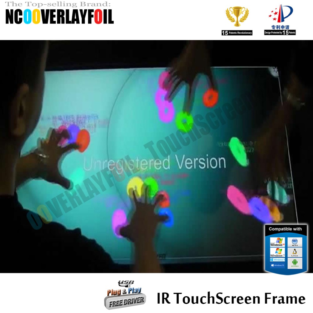"Free Shipping 19"" 5:4 Ratio IR Touch Screen Panel 10Points High Sensitivity For Interactive LCD Monitor,Touch Wall, Kiosks"