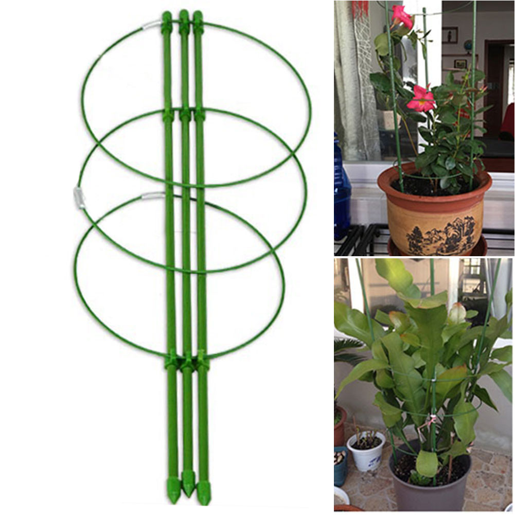 Trellis Support Frame Gardening Tool Plant Vine Climbing Rack Flower Steel Vegetables Pot Culture Decorative