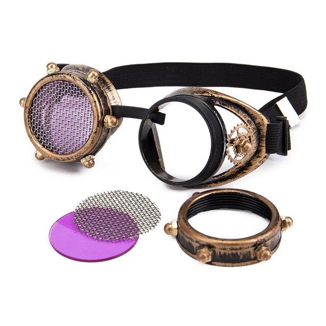 C. F. Íris Caleidoscópio GOGGLE Steampunk Óculos Óculos De Lentes De  Cristal Do Punk Do Vintage óculos 7e5d0f423e