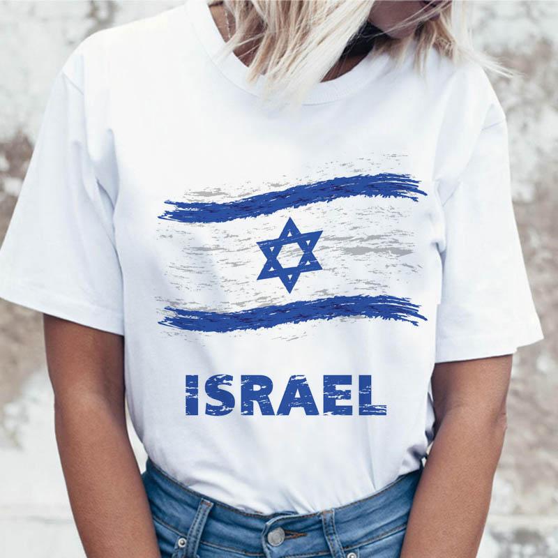 ISRAEL T Shirt Korean Tees Ulzzang Women Tshirt Female T-shirt Graphic For Harajuku Top Clothing Funny