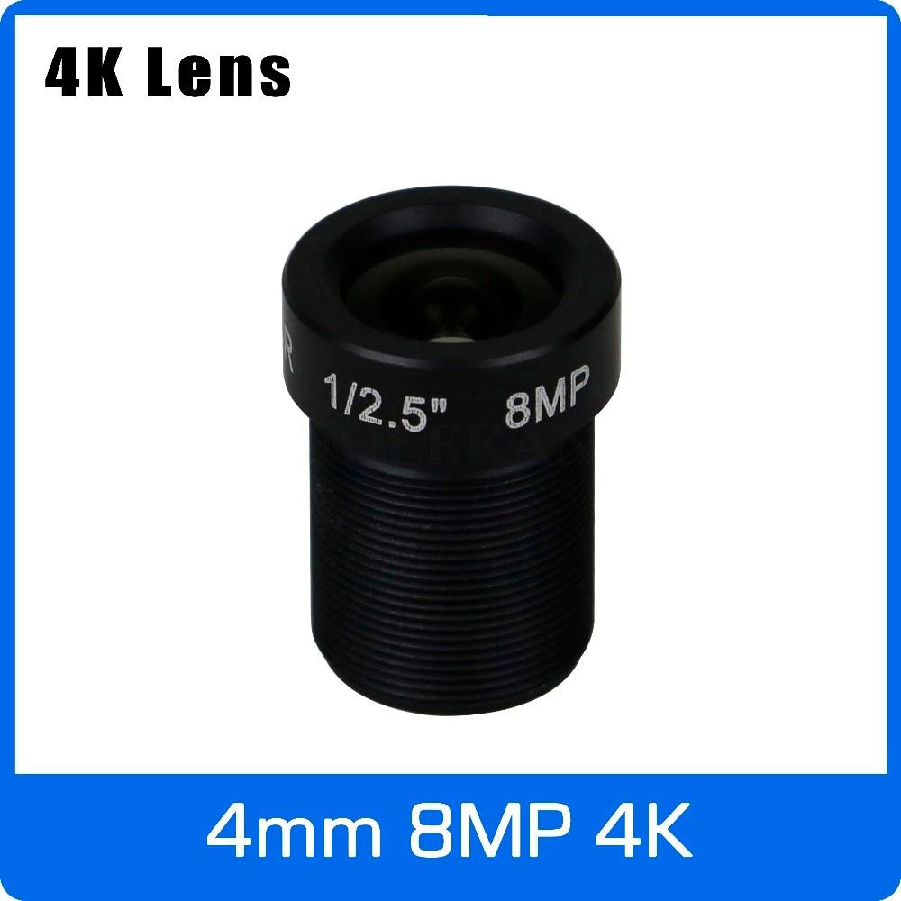 4 k Lentille 8 Mégapixels Fixe M12 Petite Lentille 1/2. 5 pouce 4mm 100 Degrés Pour SONY IMX274/IMX317/IMX179 4 k IP CCTV caméra Livraison Gratuite