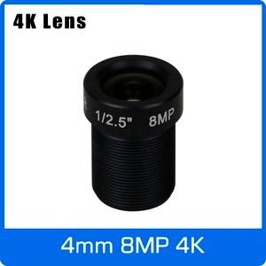 Image 1 - 4K עדשת 8 מגה פיקסל קבוע M12 קטן עדשה 1/2.5 אינץ 4mm 100 תואר עבור SONY IMX274/IMX317/IMX179 4K IP CCTV מצלמה משלוח חינם