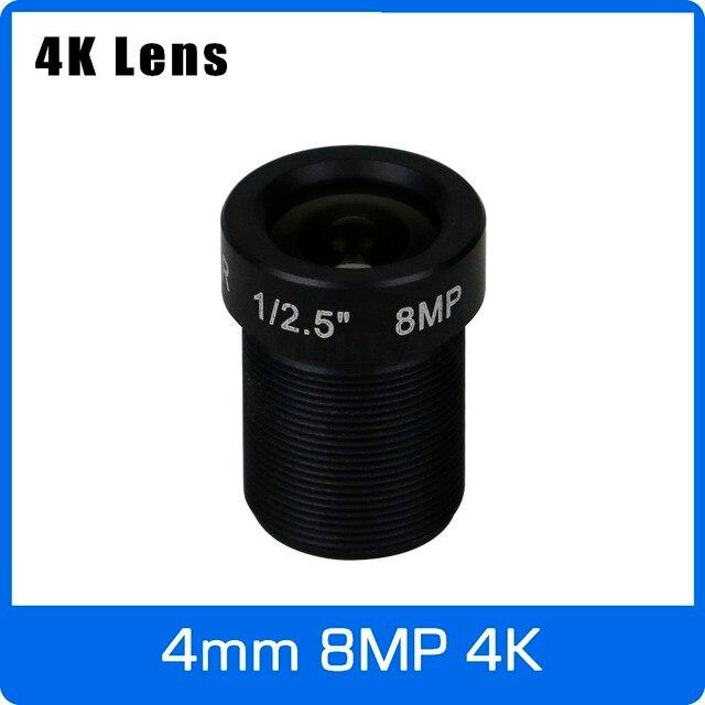 4K עדשת 8 מגה פיקסל קבוע M12 קטן עדשה 1/2.5 אינץ 4mm 100 תואר עבור SONY IMX274/IMX317/IMX179 4K IP CCTV מצלמה משלוח חינם