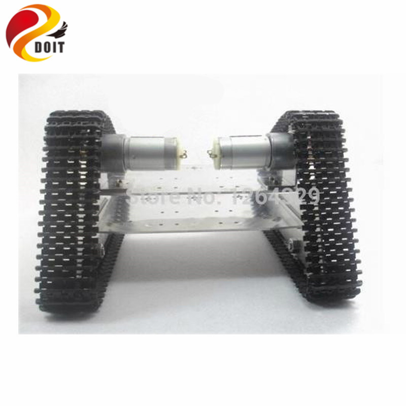 Official DOIT Caterpillar Chassis Wall-e RC Robot Tank Crawler Intelligent Barrowload Tractor Obstacle Raspberry Pi Diy official doit rc metal tank chassis wall caterpillar tractor robot wall e crawler wall brrow land car diy rc toy remote control