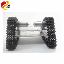 Best price Official DOIT Caterpillar Chassis Wall-e RC Robot Tank Crawler Intelligent Barrowload Tractor Obstacle Raspberry Pi Diy