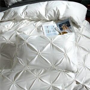 Image 4 - LOVINSUNSHINE Juego de cama de edredón de seda tamaño King, lino, doble flor