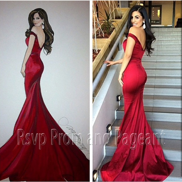 Online Get Cheap Red Sweetheart Neckline Mermaid Dress -Aliexpress ...