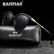 BANMAR Luxury Brand Vintage Sunglasses Women Polarized Ladies Sun Glasses For Oversize Feminine Driving