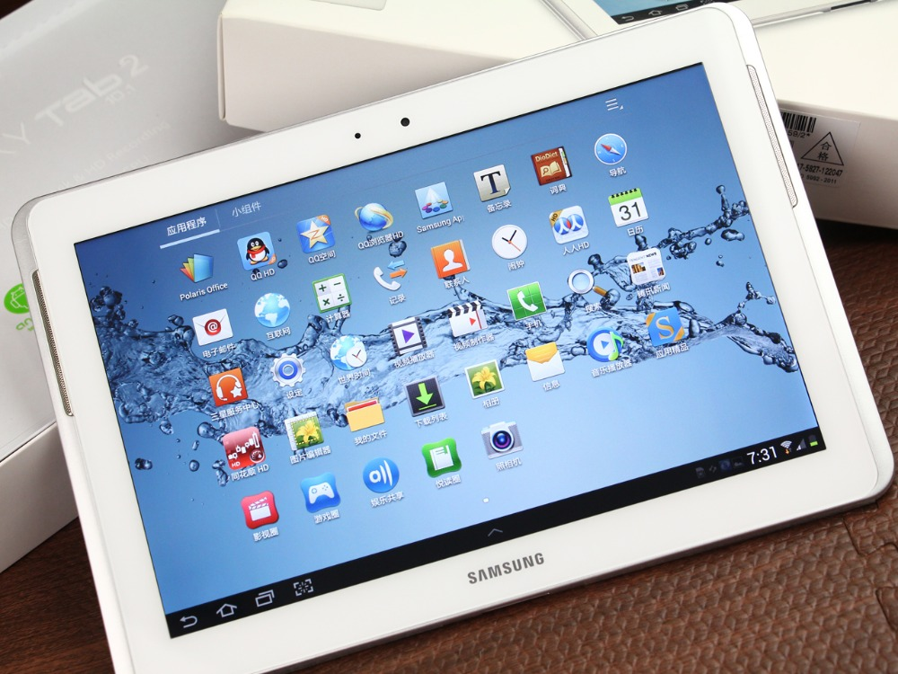 Samsung Galaxy Tab 2 10.1 pouces P5110 tablette wifi PC 1 GB RAM 16 GB ROM Dual Core 7000 mAh 3.15MP caméra Android Tablet