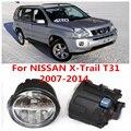 Para NISSAN X-Trail T31 Fechado Off-Road Vehicle 2007-2014 Branco Luzes de Nevoeiro Lâmpadas 6000 K 2 PCS