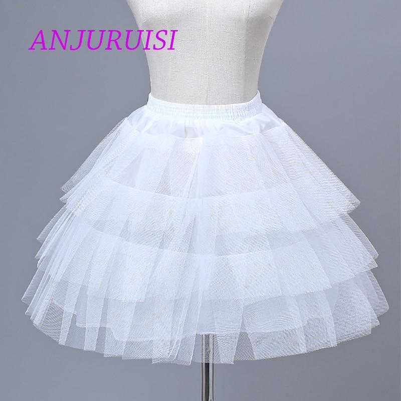 ANJURUISI Flower Girl Dress Petticoat Girl Underskirt Hard Tulle Lolita Cosplay Petticoat Ballet Tutu Skirt Rockabilly Crinoline