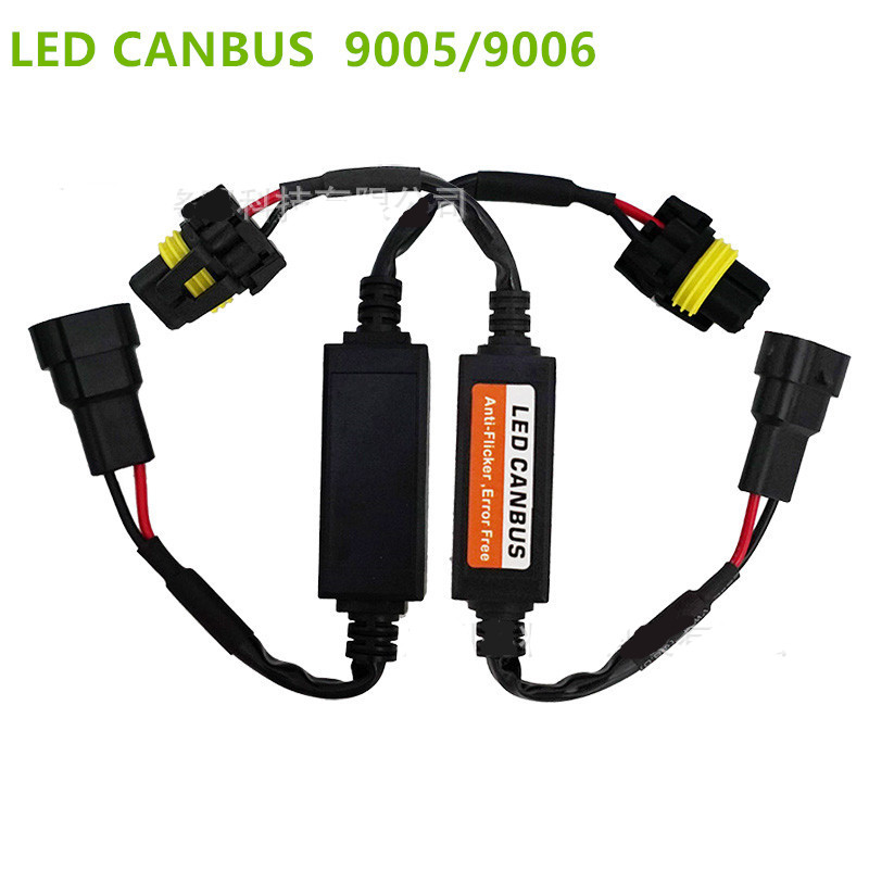 compare prices on headlamp wiring online shopping buy low price 2x 9005 9006 led headlight canbus wiring harness adapter led car headlight bulb auto headlamp fog light canbus plug in play