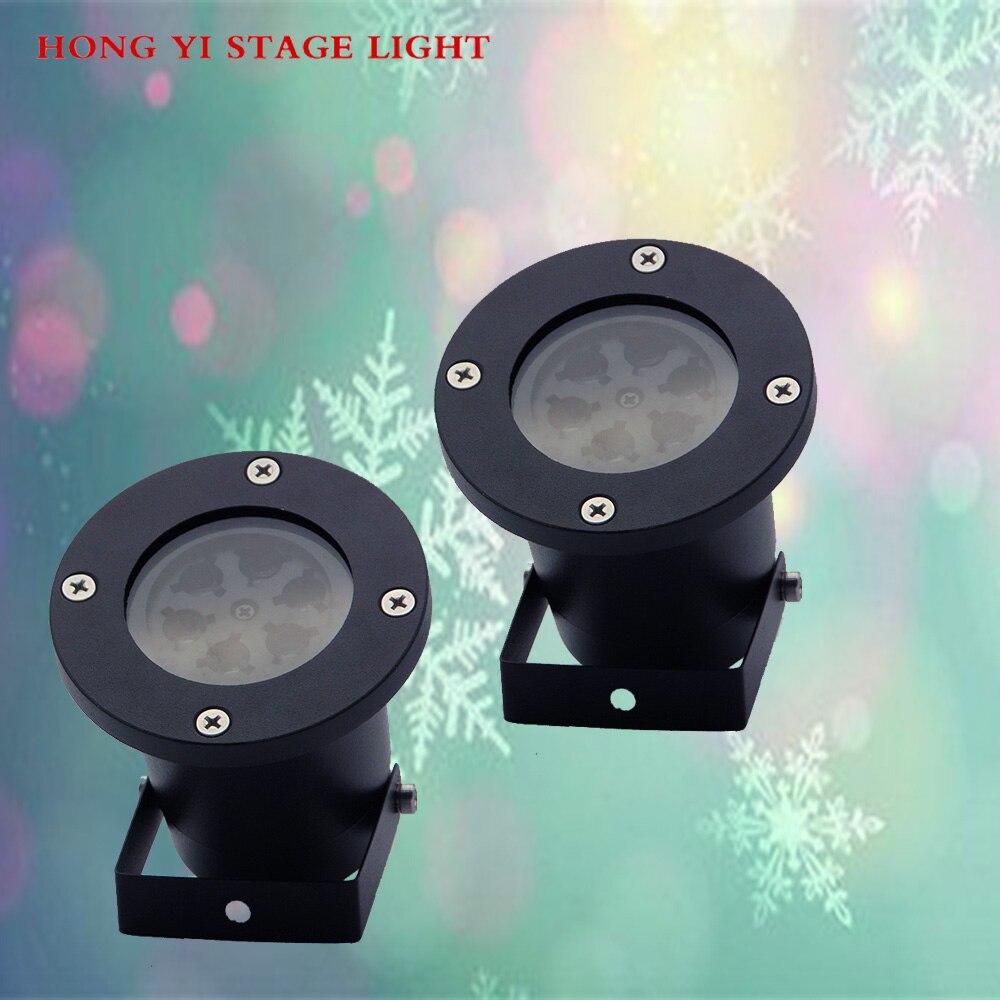 2 pcs/lot étanche décoration LED flocon de neige projecteur pour fête de mariage