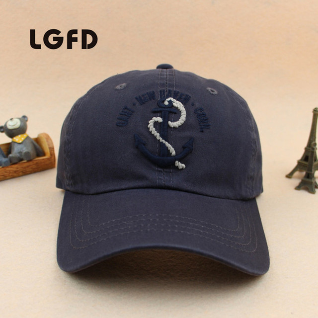 2016 LGFDCA01  Unisex cotton   ANCHOR  Baseball Cap Breathable Summer   Adjustable Snapback caps