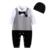 Auro mesa bebê recém-nascido roupas meninos cavalheiro romper do bebê com chapéu do bebê macacões