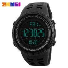 SKMEI Для мужчин спортивные часы обратного отсчета Двойной Время Часы Будильник Chrono Цифровые наручные часы 50 м Водонепроницаемый Relogio Masculino 1251