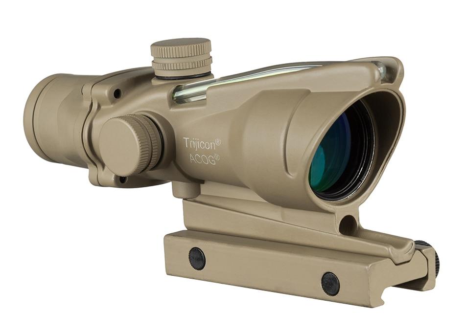 Caça riflescope acog 4x32 real fibra óptica