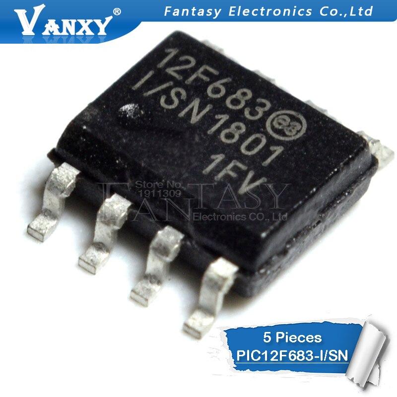 10 PCS PIC12F683-I//SN SOP-8 12F683 I//SN 8-Bit CMOS Microcontrollers
