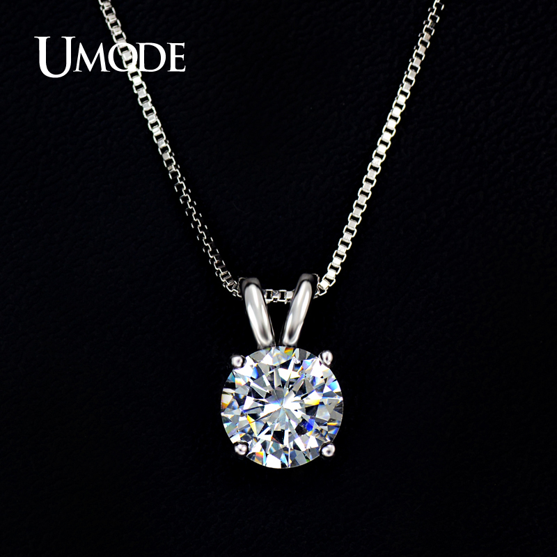 product UMODE Necklaces & Pendants Best Quality Hearts & Arrows CZ Pendant Necklace For Women Wedding/Party Jewelry AUN0047