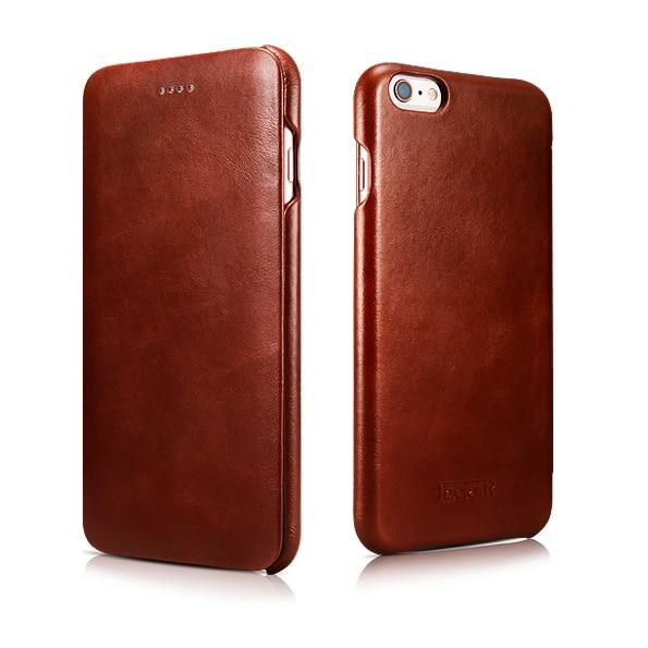 2016 Busniess Original ICARER Innovative Design Genuine Leather High Grade Vintage Flip Cover Cases For