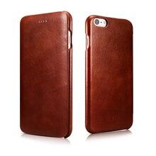 2016 Busniess Original ICARER Innovative Design  Genuine Leather High Grade Vintage Flip Cover Cases For iPhone 6 6s 4.7inch
