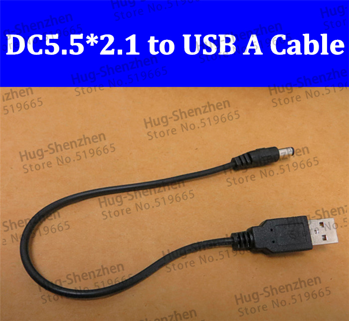 100pcs <font><b>USB</b></font> A male <font><b>to</b></font> <font><b>5</b></font>.<font><b>5</b></font> mm/2.1 mm <font><b>5</b></font> Volt <font><b>DC</b></font> <font><b>5</b></font>.<font><b>5</b></font>*2.1 Barrel Jack Power Cable image
