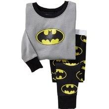 Бэтмен Мальчик пижамы костюм Супер Героя С Длинным Рукавом Пижамы Детские pijama Дети Пижамы одежда для дома ночной рубашке