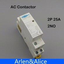 1 шт. TOCT1 Американская классификация проводов 2р 25A 220 V/230 V 50/60HZ Din rail бытовой ac Контактор В соответствии с стандартом 2NO