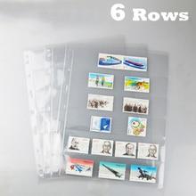 6 صفوف 10 قطعة خطوط طوابع أوراق شجر شفافة خطوط بك صفحات من العلامات التجارية ألبوم ورقة القياسية 9 ثقوب PCCB/MINGT