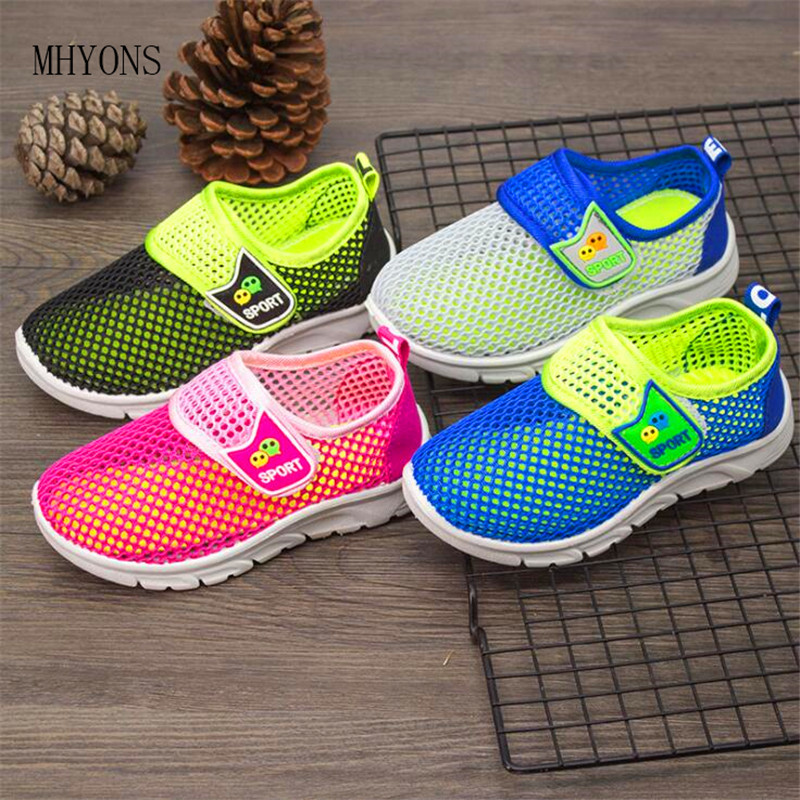 MHYONS 2019 New Kids Shoes Summer Non-slip Children Net Shoes Girls Fashion Sandals Multicolor Princess Sandals Boys Sneakers