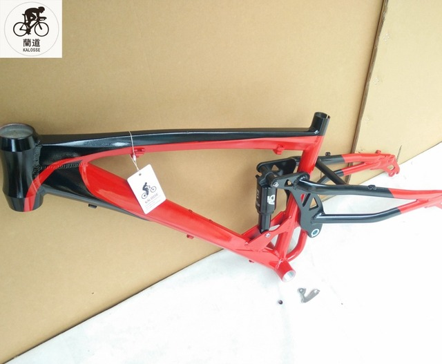 Kaloss 26*4.0 inch downhill bicicleta grasa marco aire suspensión ...