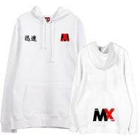 Autumn winter kpop monsta x same chinese characters printing hoodie unisex fleece pullover sweatshirt