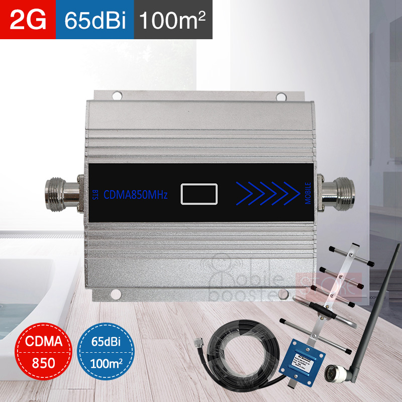 <font><b>repetidor</b></font> <font><b>850</b></font> <font><b>mhz</b></font> 3G UMTS CDMA 850mhz Repeater GSM Mobile Cell Phone Signal Booster Amplifier with indoor outdoor Antenna 65dB image
