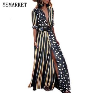 6a5c0029f42 Shop discount patchwork long sleeve black polka dot dress