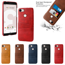 for Google Pixel 3 XL 4 Case PU Leather PC Anti-Scratch Protective Cover 2 3A Card