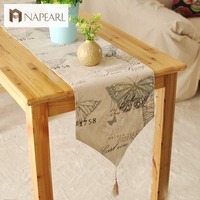 British Foreign foot of the bed a Mediterranean table flag textile factory outlets soft linen table runner